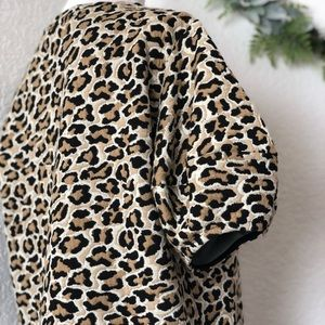Bershka Tops - Bershka US • Textured Leopard T-shirt Puff Sleeves